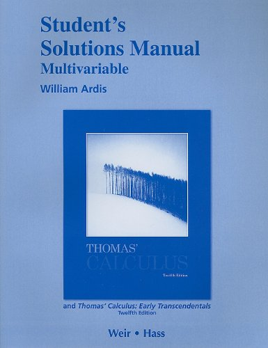 thomas calculus 12 edition solutions manual pdf