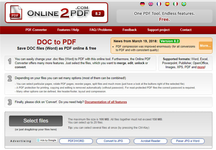 online word file to pdf converter