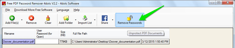 how to remove password encryption from pdf