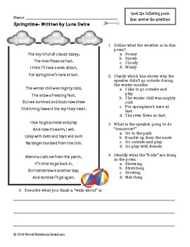close reading passages 3rd grade pdf