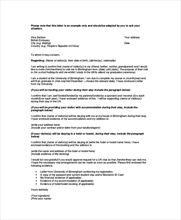 proof of sponsorship and or private accommodation italy pdf