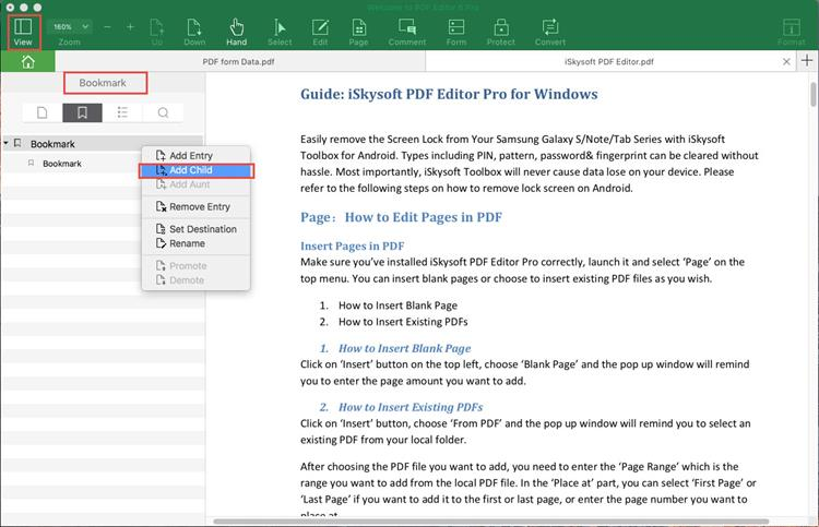 create table of content from pdf bookmarks