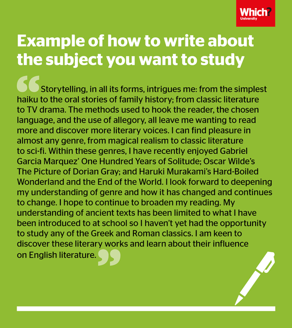 example of a personal statement for university application