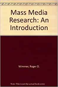 mass media research an introduction wimmer pdf